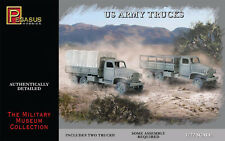 Pegasus 7651 WWII US Army Trucks & Driver Figures Set of Two 1/72 Scale Kits