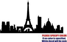 "PARIS SKYLINE CITY Decal Sticker Vinyl JDM Funny Car Window Bumper Truck 7"""