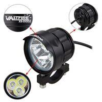 5-84v Motorcycle 3x XM-L T6 LED Driving Headlight Motorbike Fog Lamp Spot Light