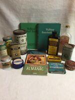 Large Lot of Vintage J.R. Watkins Tins, Books, Bottles - 1920's-1940's