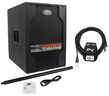 """Peavey PVXp Sub 850 Watt Powered 15"""" PA Live Sound DJ Subwoofer PVXpSub+Cable"""