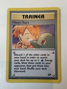 1st Edition Misty's Tears Trainer 2000 Gym Challenge #118/132