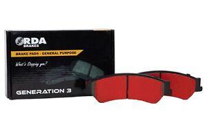 RDA GP Max Brake Pad Set Rear RDB1509 fits Nissan Pulsar 1.6 (B17), 1.8 (B17)