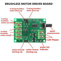5V-12V DC Brushless Driver Board Controller for Hard Drive Motor No Hall