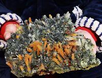 12.5lb Natural Yellow crystal cluster & flower shape specular hematite Specimen