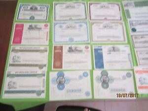 lot 27  US  & Canada mixed stock certificate & bond see scan