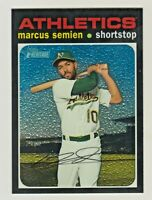 2020 Topps Heritage High Number CHROME #THC-98 MARCUS SEMIEN 312/999 Oakland A's