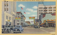 Linen Postcard A716 Central Ave Looking South Monroe Phoenix AZ Lamson College