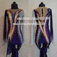 Ice Figure Skating Unitard/Acrobatics Gymnastics Suit/Dance Circus Body Jumpsuit