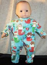 """Doll Clothes Baby Made 2 Fit American Girl 15"""" inch Pajamas Christmas Stocking"""