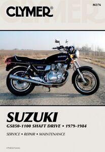 Clymer Repair Manual for Suzuki GS 850 GS 1100 Shaft Drive 79-84 M376