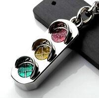 New Mini Traffic Light Car Key Ring Chain Classic 3D Keyfob Keychain Gift DICA
