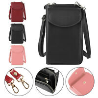 Mini Cross-Body Women Cellphone Shoulder Strap Wallet Pouch Bag Purse PU Leather