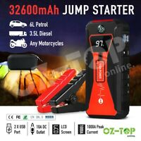 32600mAh Portable Car Jump Starter Vehicle Charger Power Bank Battery 1000A USB
