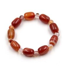 14mm*10mm Red Onyx Agate Gemstone Tibet Buddhist Prayer Beads Mala Bracelet