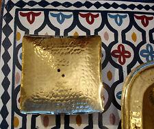 Marocchini A MANO MARTELLATO IN OTTONE QUADRATO PORTA SAPONE CON FORI PORTE Savon