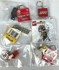 LEGO LOT 6 MINI-FIGURES BRICKS  KEYCHAIN + PIRATES 198637 SEALED