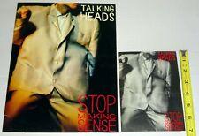 Talking Heads David Byrne Stop Making Sense Movie 2pc Program + Invitation Lot