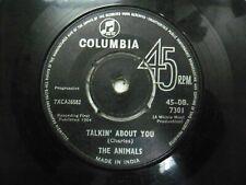 "THE ANIMALS 45 DB 7301 RARE SINGLE 7"" INDIA INDIAN 45 rpm VG+"