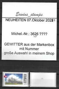 36292 Bund aus Jahrgang 07.Oktober 2021 Mi.-Nr.: 3617  selbstklebend mit Nummer
