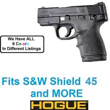 S&W M&P Shield 45 BLACK Hogue Rubber HandAll Beavertail Grip Sleeve acp 45acp