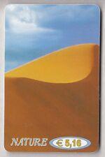 EUROPE  TELECARTE / PHONECARD .. ITALIE 5€16 NATURE DESERT DUNE SAHARA +N°