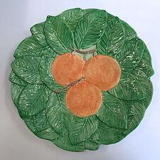 """Vintage Fitz and Floyd  Salad Plate Embossed Oranges Leaves 9"""" 1990 AS IS"""