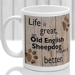 Old English Sheepdog dog mug, Old English  dog gift, ideal present for dog lover