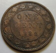 1882 Canada Large Cent Coin. (RJ501)