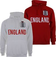 England English Football Hoodie Mens Hoody - White or Red