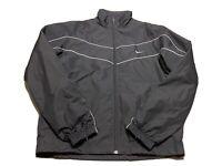 Nike Full-Zip Windbreaker Jacket Mesh Lined  Swoosh Men's M Navy Blue EUC