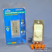 New Leviton Almond Push ON/OFF Preset Rotary Dimmer Light Switch 3-Way RPI06-1LA