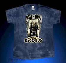 New Death Row Records Mens Tie Dye Vintage T-Shirt