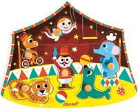 Janod CIRCUS PUZZLE Wooden Peg Activity Toy BN