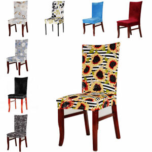 Elastic Dining Chair Covers Slipcovers Home Kitchen Protective Seat Protector