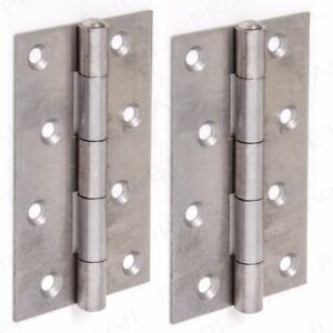 """LARGE SET 10x NARROW BUTT HINGES 125mm/5"""" Self Colour Strong Steel Door Frame"""