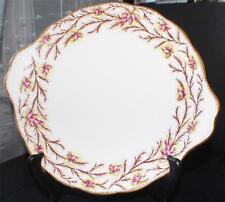 Vintage ROYAL ALBERT Bone China England HEATHER BELL Handled Cake Plate #2687