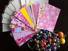 50 COOL CARDZ REFILLS  INCLUDING FUNKY  INSERTS AND TRENDY  BEADS