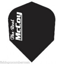 "McCOY ""THE REAL"" EXTRA STRONG DART FLIGHTS BLACK-WHITE TEXT"