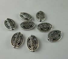 20pcs Tibetan silver Oval flower Spacer bead 14x10mm