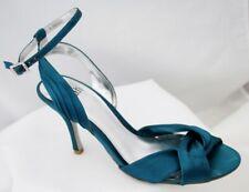 Fe Azul Turquesa Satén Noche Stiletto Zapatos Talla 6