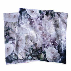 Set of 2 Crushed Velvety Polyester Soft Breathable Printed Cushion Covers