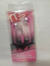 Maxell Stereo Earbuds 190279 SEB-Pink  NIP