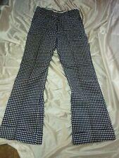 Vintage Bell Bottom Cuffed Pants 32X33 Hippie Rockabilly 70's