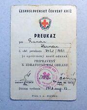 1952 CZECHOSLOVAKIA RED CROSS OLD VINTAGE DOCUMENT - n164!!