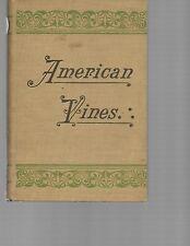 American Vines P. Viala and L. Ravaz Hardcover 1903