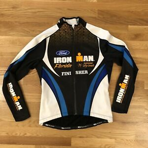 Ironman Florida Finisher Long Sleeve Ford Sugoi Cycling Jersey Jacket Mens Large