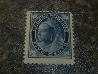 CANADA POSTAGE STAMP SG146 5C BLUE FINE MOUNTED-MINT