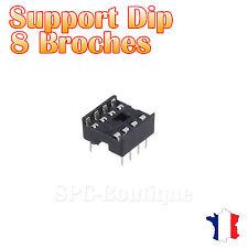 10x Support DIP 8 Broches pour Circuit Intégré