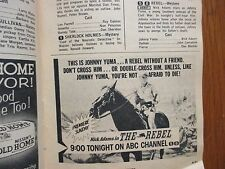 Oct--1959 TV Guide(DEBUT OF THE REBEL/BOURBON STREET BEAT/LEE  MARVIN/ADELE MARA